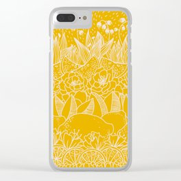 Sunshine Lemonade Garden Clear iPhone Case
