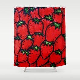 Strawberry jamboree Shower Curtain