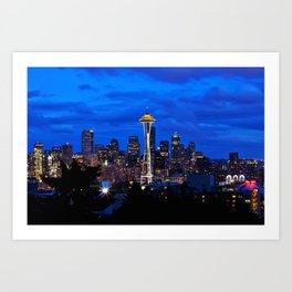 Seattle Skyline and Space Needle Art Print