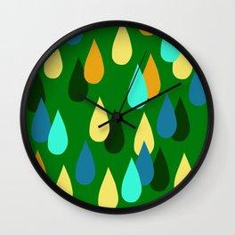 Happy Rain_02 Wall Clock