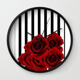 Prohibited roses Wall Clock