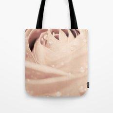 Drops on Rose Tote Bag