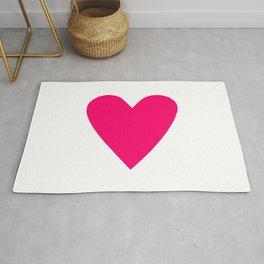 Neon Pink Heart Rug