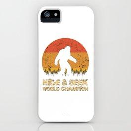 Vintage Hide And Seek World Champion Bigfoot Sasquatch iPhone Case