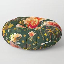 Peach Roses  Floor Pillow