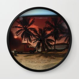bora bora sunglasses Wall Clock