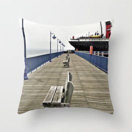 Soo City Dock Throw Pillow