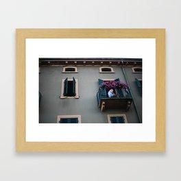 Balcone. Peschiera del Garda. Framed Art Print