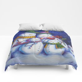 Snow Family Portrait Comforters