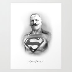 SuperbMan! Art Print