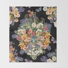 Lush Baroque Floral Throw Blanket