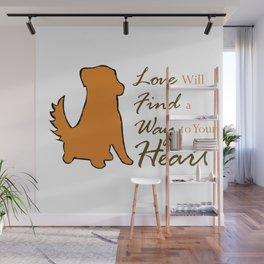 Dog Love Wall Mural