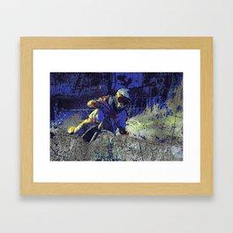 Trail Blazer Motocross Rider Framed Art Print