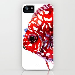Scarlet Red Discus iPhone Case