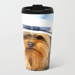Little Sailor Yorkshireterrier With Sailor Hat #decor #society6 Travel Mug