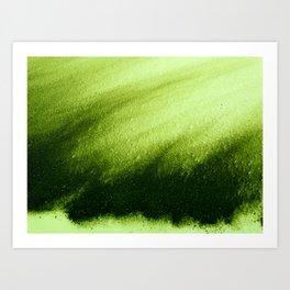 Indefinite Green Art Print