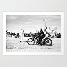 The Race of Gentlemen bw 14 Art Print