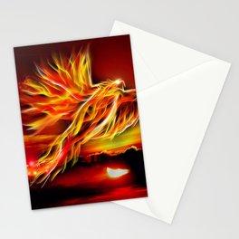 Phoenix Bird Fire Stationery Cards