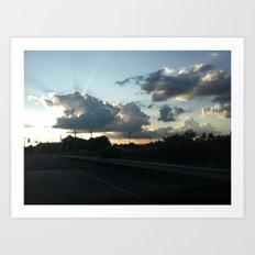 The Setting Sun (#2) Art Print