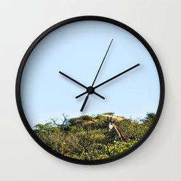 Giraffe. Wall Clock