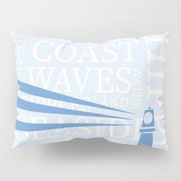 Nautical Lighthouse poster Pillow Sham