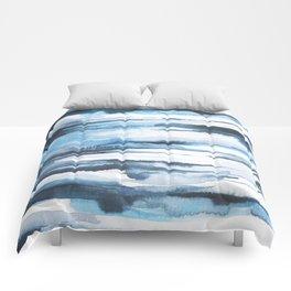 Blue Ice Watercolor 2 Comforters