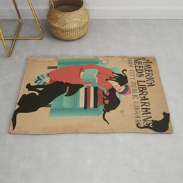 America Needs Librarians Rug