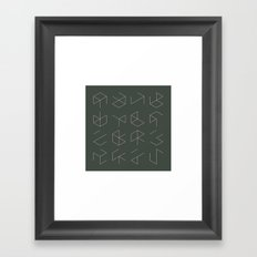 #38 Phantom cubes – Geometry Daily Framed Art Print