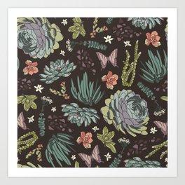 Cacti by Night Art Print