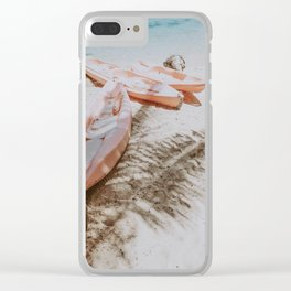 little boats Clear iPhone Case
