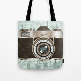 Green Vintage Camera Art Tote Bag