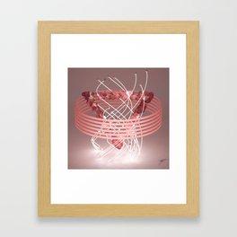 Colorize: Rose Quartz Framed Art Print