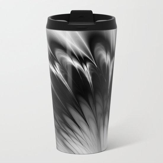 Black and White Elegance Metal Travel Mug