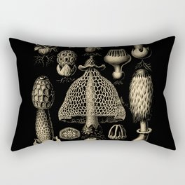 """""""Basidiomycopa"""" from """"Art Forms of Nature"""" by Ernst Haeckel Rectangular Pillow"""
