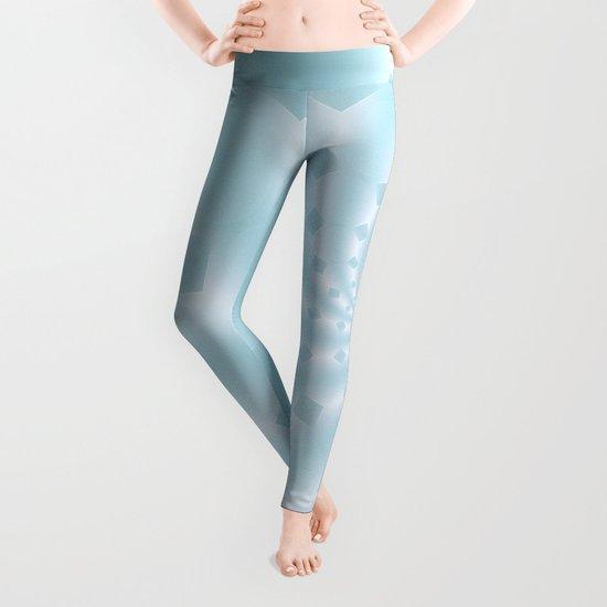 Tess Fractal in Frozen Blue Leggings
