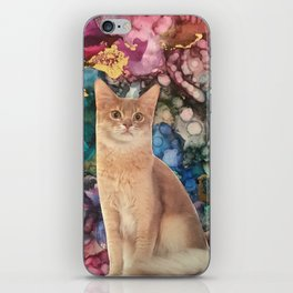 Cat with a Fluffy Tail iPhone Skin