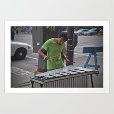 Marimba Player Art Print