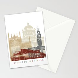 Kingston Upon Hull skyline poster Stationery Cards