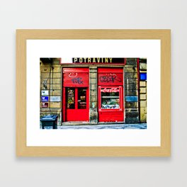 Prague Graffiti # 10 Framed Art Print