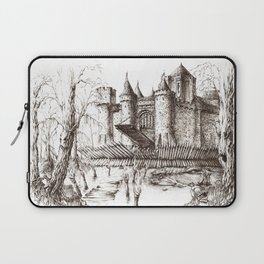 Swamp Fortress ink Laptop Sleeve