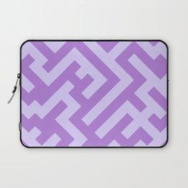 Pale Lavender Violet and Lavender Violet Diagonal Labyrinth Laptop Sleeve