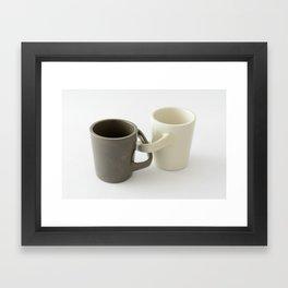 Engagement mugs Framed Art Print