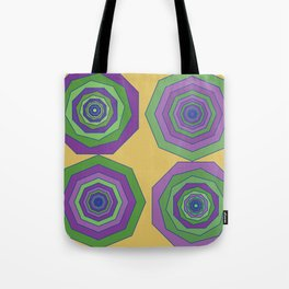 Unbalanced octagon yellow Tote Bag