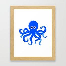 Octopus (Blue) Framed Art Print