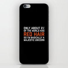 Red Hair Funny Quote iPhone & iPod Skin