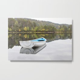Messing about on the Loch Metal Print