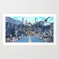 inside gaming Art Prints featuring PC Gaming Part 3 - IG Nation by the10s