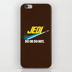 Brand Wars: Jedi - blue lightsaber iPhone & iPod Skin