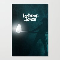 indiana jones Canvas Prints featuring Indiana Jones by SG Posters