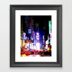 colors on pavement Framed Art Print